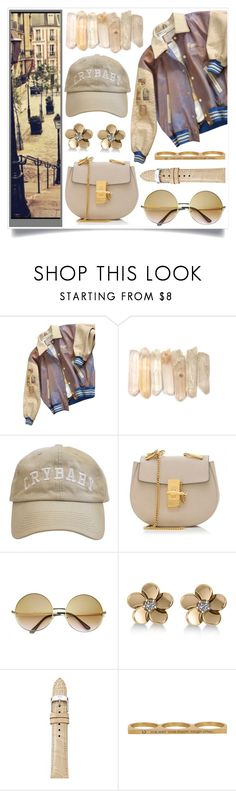 """""""Let's Roll"""" by racanoki ❤ liked on Polyvore featuring GUESS by Marciano, Chloé, ZeroUV, Allurez, Michele, Jaeci and RaCaNoKi"""