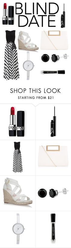 """""""blind date"""" by sharmashalini ❤ liked on Polyvore featuring Christian Dior, Gina Bacconi, New Look, DKNY and M2BEAUTÉ"""