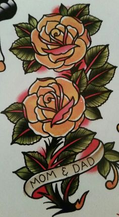 """Traditional/old school tattoo, Jeromey """"tilt"""" McCulloch, Ben Cheese, roses"""