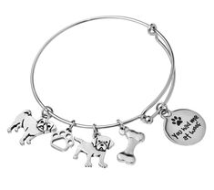 Our 'You Had Me At Woof' bracelet is a unique gift for any dog lover. Customize your bracelet by selecting dog breeds. Dog Paws, Laser Engraving, Dog Breeds, Bangle Bracelets, Bones, Dog Lovers, Unique Gifts, Silver, Jewelry