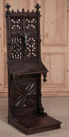 Antique French Gothic Prie Dieu | Antique Furniture | Inessa Stewart's Antiques