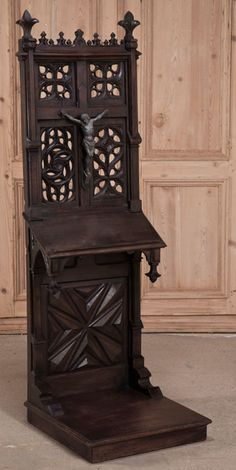 Antique French Gothic Prie Dieu | Antique Furniture | Inessa Stewart's Antiques