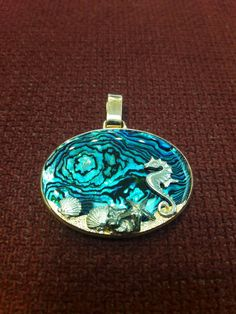 Sea horse and shells 925 Silver hand made