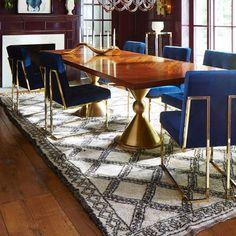 Navy Velvet Dining Chair