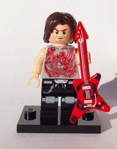 CUSTOM 100% LEGO ROCKER HEAVY METAL ROCK STAR WITH GUITAR BAD ASS NO PAINT USED  #LEGO