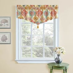 Waverly Kings Turban Ascot Curtain Valance & Reviews | Wayfair - wondering if this would work for the tops of kitchen Windows. Also at Target.