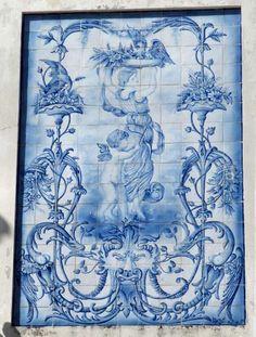 Delft Tiles, Blue Tiles, White Tiles, Tile Murals, Tile Art, Mosaic Art, Portuguese Tiles, Blue And White China, Wall Art Designs