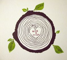custom family tree  brown by cozyblue on Etsy