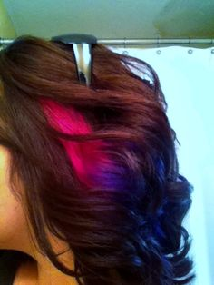 Fun summer hair... Magenta faded down to violet :)