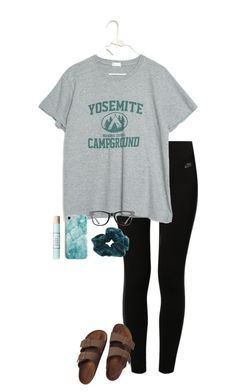 Mar 2020 - A fashion look from March 2018 by gabyleoni featuring NIKE, Birkenstock, Ray-Ban, Recover and CO Cute Outfits With Leggings, Cute Lazy Outfits, Teenage Girl Outfits, Sporty Outfits, Teen Fashion Outfits, Teenager Outfits, Athletic Outfits, Outfits For Teens, Trendy Outfits