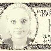 Sara's Dollar Bill. The portrait shows Sara Adeline Mazzolini in France 2015. Sara's selfie. Photo shared via Share.Pho.to