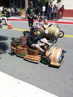 Wine Barrel Push Cart Races