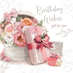 Grandma Quotes Discover Happy Birthday Wishes Flowers Presents & Gift Design Female Happy Birthday Card 5033833012426 Happy Birthday Flowers Wishes, Happy Birthday Celebration, Happy Birthday Messages, Happy Birthday Images, 40th Birthday Gifts, Happy Birthday Greetings, Vintage Birthday, Birthday Pictures, Birthday Greeting Cards