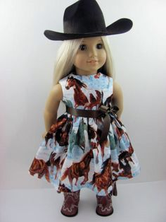 Wild Horse Doll Dress fits The American Girl Doll  by TheWhimsicalDoll2, $12.00