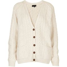 TOPSHOP Knitted Cable Cardi. Sweaters are so comfy, but some of them are so expensive...