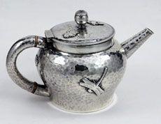 Tiffany Applied Sterling Silver Tea Pot