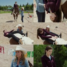Amy: See how tough that is? Now imagine if you're going at a full gallop and your head's down by your horse's hooves. Georgie: I'll get stronger! Amy: No, Georgie, you're not ready. I can't believe your coach would even consider this. Heartland Season 10, Heartland Quotes, Heartland Tv Show, Ty Borden, Alisha Newton, Horse And Human, Online Photo Editing, Crop Photo, The Ranch