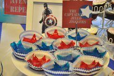 Captain America Birthday Party | CatchMyParty.com