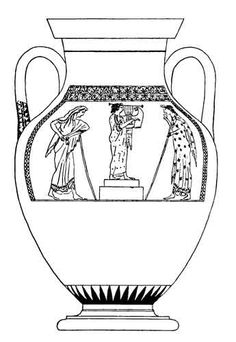Old Roman Vase coloring page from Italy category. Select