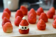 Christmas is around the corner, get in the holiday spirit by whipping up a batch of santa inspired desserts.