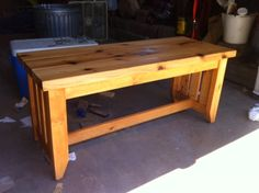 diy bench from Kreg Owners Group