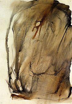 Henri Michaux, 1948 Georges Mathieu, Henri Michaux, Arthur Dove, Abstract Drawings, Art Drawings, Erik Satie, Tribal Art, Artsy, Watercolor