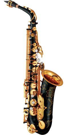 Yamaha Custom Z Alto Saxophone Black Lacquer – Common Shopping Saxophone Tattoo, Saxophone Instrument, Soprano Saxophone, Tenor Sax, Alto Saxophone For Sale, Black Saxophone, Yamaha Saxophone, Yamaha Guitars, Music Tattoos