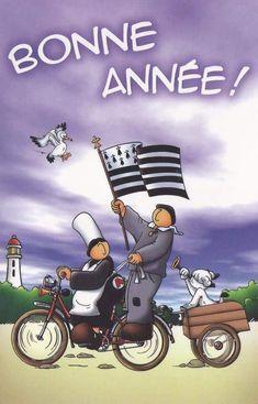 Bonne année Celtic, Brittany, France, Lol, Humor, Comics, Invitation, Illustrations, Happy