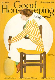 Good Housekeeping Copyright 1913 The Lady Plays Tennis - Mad Men Art: The 1891-1970 Vintage Advertisement Art Collection
