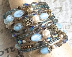 Memory Wire Bracelets, Beaded Bracelets, Seed Beads, Boho Fashion, Glass Beads, My Design, Creativity, Memories, Trending Outfits