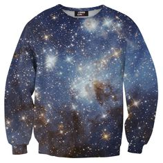 BLUE NEBULA SWEATSHIRT... The nerd in me officially came out. I WANT IT