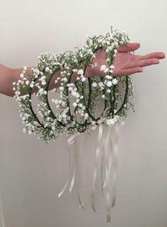 Babys Breath Crown, Baby Breath Flower Crown, Babys Breath Flowers, Flower Girl Crown, Flower Crown Wedding, Wedding Flowers, Babies Breath Bouquet, Wedding Crowns, Babies Breath Wedding