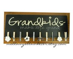 Grandkids make life grand vinyl decal by mellowyellowdecor on Etsy, $14.50