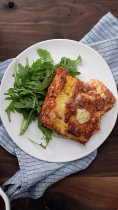 For that extra rich lasagna experience, try switching out the noodles with polenta layered with mozzarella and a hearty bolognese sauce. Best Picture For Layering architecture For Your Taste You are l Beef Recipes, Cooking Recipes, Healthy Recipes, Polenta Lasagna, Bolognese Sauce, Pasta, Casserole Dishes, Carne, Main Dishes