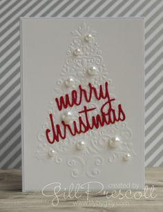 Embossed Christmas card …