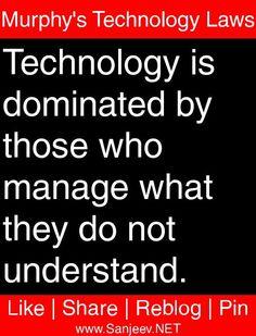 Murphy's Technology Laws #murphys #laws