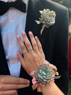 Insanely Stunning Matching Boutonniere and Wrist Flower Prom Corsage And Boutonniere, Groom Boutonniere, Corsages, Homecoming Pictures, Prom Photos, Prom Pics, Wrist Flowers, Prom Flowers, Wedding Flowers