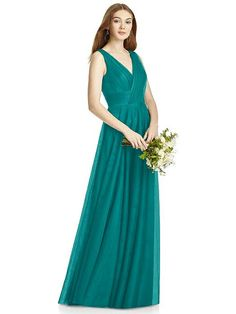 Studio Design Collection Style 4503 in Jade. Dessy Group Bridesmaids