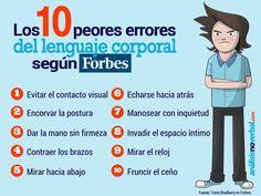 Infografía: los 10 peores errores del lenguaje no verbal
