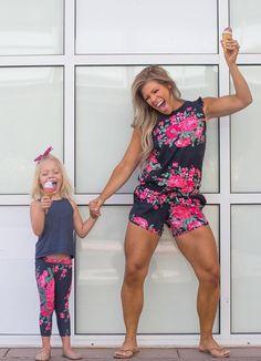 MATCHING {Mini Antigua Leggings on daughter & Antigua Romper on mom} | @albionfit