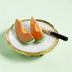 Limoges Canteloupe Melon on PLate Box
