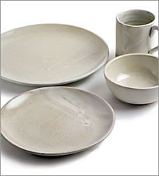Mexican ceramic tableware-Handmade Ceramic Stoneware & Ceramic Dinnerware Rustic Green Plates Handmade Set of Six Stoneware ...