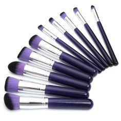10PCS Makeup Brushes Foundation Powder Blending Eyeshadow Cosmetics Set Kit at Banggood