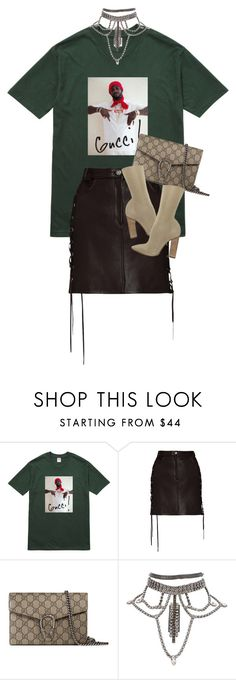 """Untitled #285"" by qazx ❤ liked on Polyvore featuring Gucci, Magda Butrym and YEEZY Season 2"