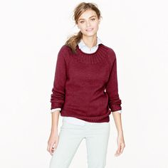 one of the coolest sweaters i have seen this fall. perfect neckline.    Collection cashmere ribbed sweater