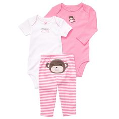 Free shipping Brand Carters Baby Girl Clothing Sets 3pcs/set Newborn 24m pink 2rompers pants Bodysuitssummer autumn wholesale on Aliexpress.com