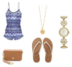 """""""Summertime outfit"""" by kariannsweeney ❤ liked on Polyvore featuring Victoria's Secret, Kate Spade, Tory Burch and Aéropostale"""