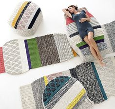 Patricia Urquiola #alfombras #punto #ganchillo #hechoamano