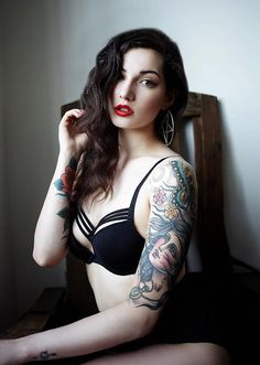 She is beautiful and so are her tattoos