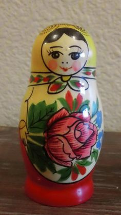Vintage Matryoshka Russian Nesting Dolls Girls by GroovyPirate